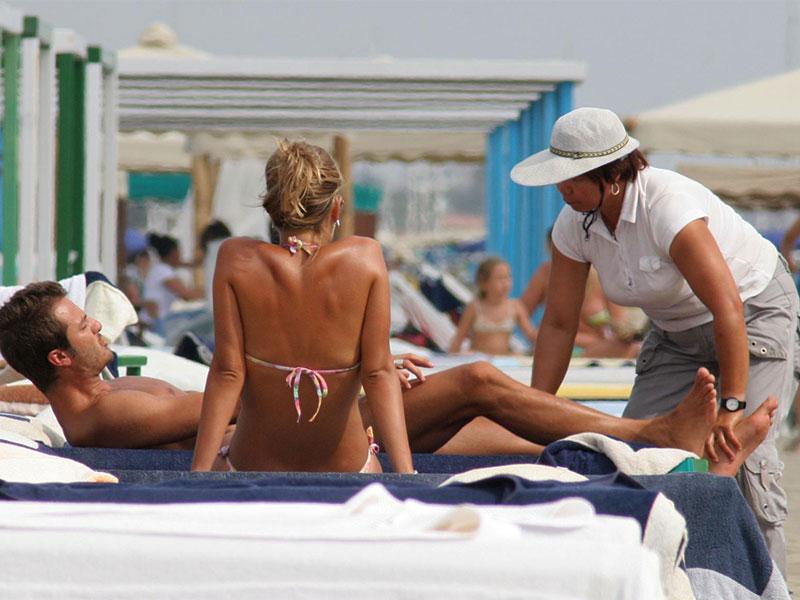 Massaggi in spiaggia? No grazie!